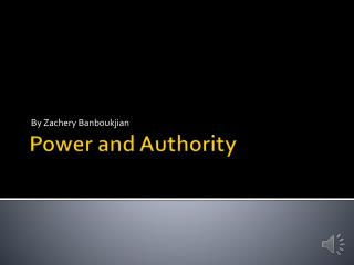 Power and Authority