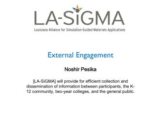 External Engagement Noshir Pesika