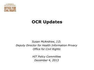OCR Updates