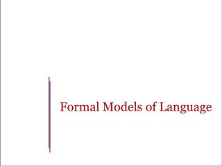 Formal Models of Language