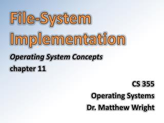 File-System Implementation