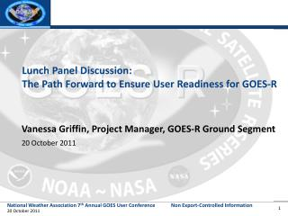 Lunch Panel Discussion:   The  Path Forward to Ensure  User Readiness  for  GOES-R
