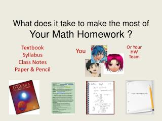 What does it take to make the most of  Your Math Homework ?