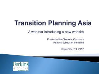 Transition Planning Asia