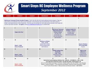 Smart Steps RC Employee Wellness Program September 2012