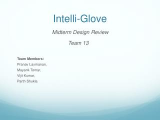 Intelli -Glove