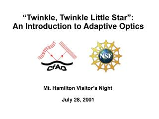 """Twinkle, Twinkle Little Star"": An Introduction to Adaptive Optics"