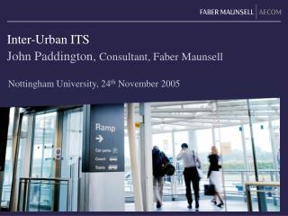 Inter-Urban ITS