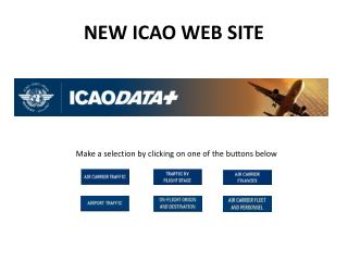NEW ICAO WEB SITE