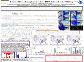 Estimates of Biomass Burning Particulate Matter (PM2.5) Emissions from the GOES Imager