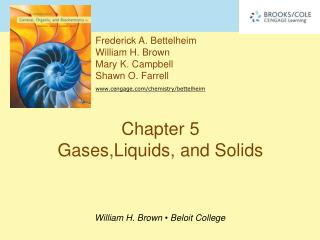 Chapter 5 Gases,Liquids, and Solids