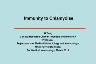 Immunity to Chlamydiae