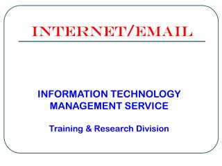 Internet/email