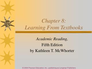 Chapter 8:  Learning From Textbooks