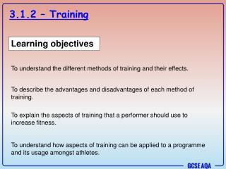 3.1.2 – Training