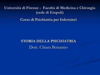 Università di Firenze -  Facoltà di Medicina e Chirurgia (sede di Empoli)