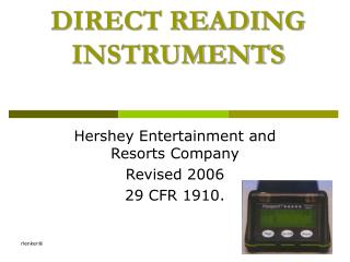 DIRECT READING INSTRUMENTS