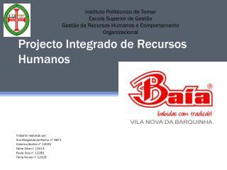 Projecto Integrado de Recursos Humanos