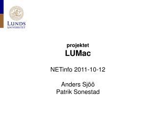projektet LUMac