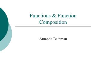 Functions & Function Composition