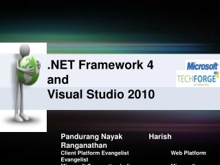 Framework 4 and Visual Studio 2010