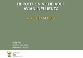 REPORT ON NOTIFIABLE AVIAN INFLUENZA