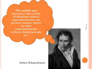 """""""The middle ages showed us the results of thinking without experimentation, our present century shows us what experimen"""