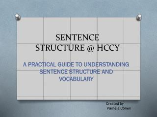 SENTENCE STRUCTURE @ HCCY