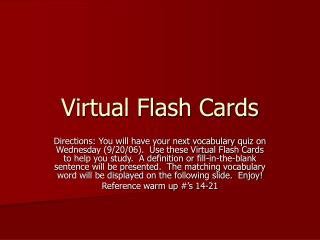 Virtual Flash Cards