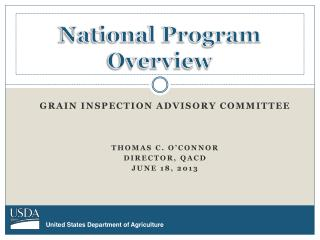 National Program Overview
