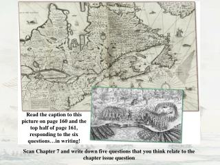 Read the caption to this picture on page 160 and the top half of page 161, responding to the six questions…in writing!