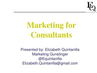 Marketing for Consultants