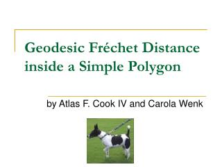 Geodesic Fréchet Distance inside a Simple Polygon