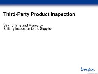 Third-Party Product Inspection