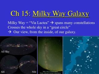 Ch 15: Milky Way Galaxy
