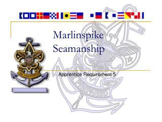 Marlinspike Seamanship