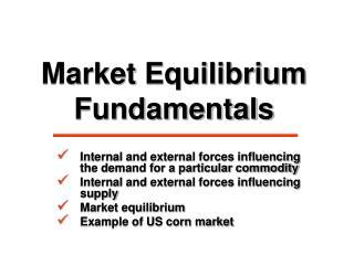 Market Equilibrium Fundamentals