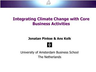 Integrating Climate Change with Core Business Activities