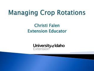 Managing Crop Rotations