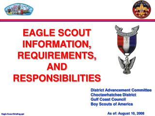 District Advancement Committee Choctawhatchee District Gulf Coast Council Boy Scouts of America