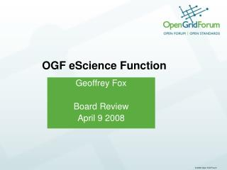 OGF eScience Function