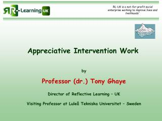 Appreciative Intervention Work