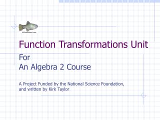 Function Transformations Unit