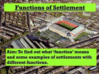 Functions of Settlement