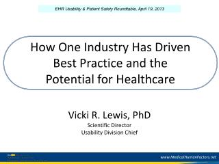 How One Industry Has Driven  Best Practice and the  Potential for Healthcare