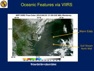 Oceanic Features via VIIRS