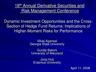 Dynamic Investment Opportunities and the Cross-Section of Hedge Fund Returns: Implications of Higher-Moment Risks for P