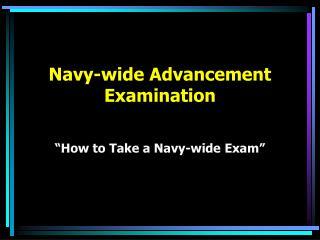 Navy-wide Advancement  Examination