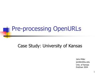 Pre-processing OpenURLs