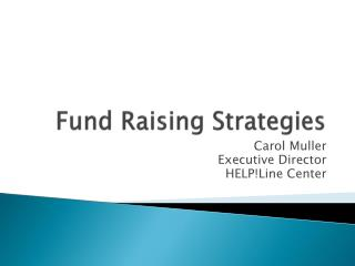 Fund Raising Strategies